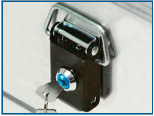 Cylinder locks - lock sets to aluminium boxes
