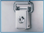 Aluminium case - Cylinder lock fitted in toggle lock