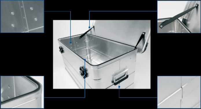 Transportkiste - Universal-Box DL 540 Vorderansicht geöffnet