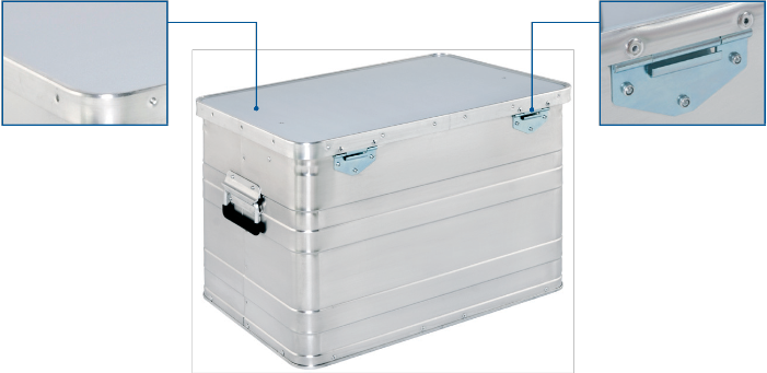 Aluminum case - AA 240 Budget Box rear view