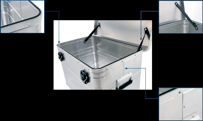 Aluminum case - AA 240 Budget Box front view open