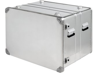 Aluminum modular shelf container as medical box