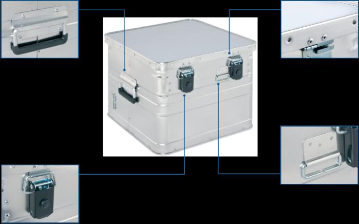 Alumínium archiváló doboz - BB 345 Office Box elölnézet