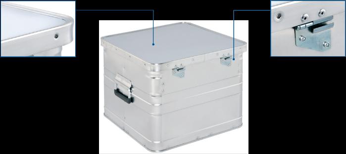 Aluminium archiving box - Office box BB 345 rear view