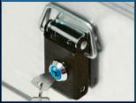 Alumínium archiváló doboz - BB 345 Office Box békazár hengerzárral szerelve