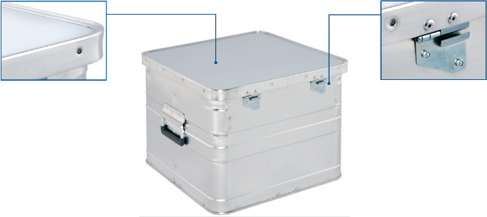 Alumínium archiváló doboz - BB 345 Office Box hátulnézet