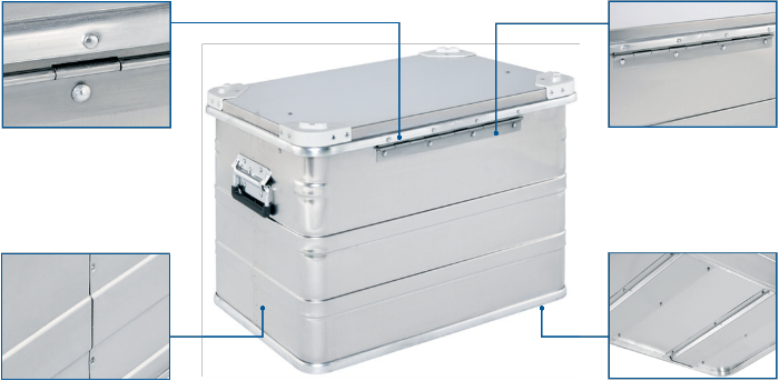 Alubox - Pharma Box DP 545 raer view