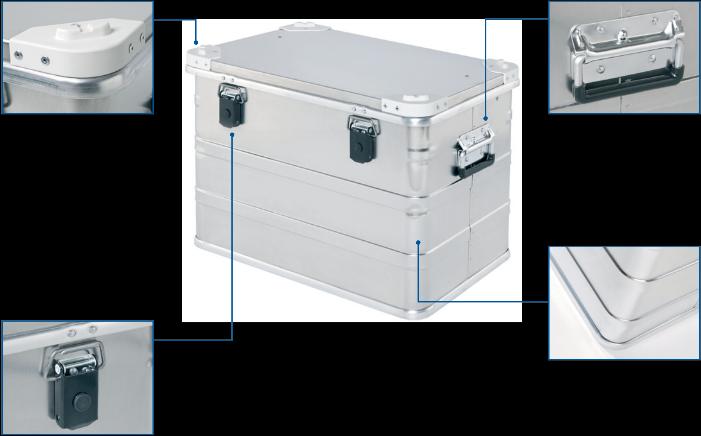 Alu doboz - DP 545 Pharma Box elölnézet
