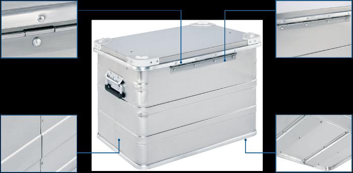 Alu doboz - DP 545 Pharma Box hátulnézet