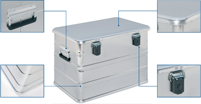 Alubox - CL 440 Transport box front view