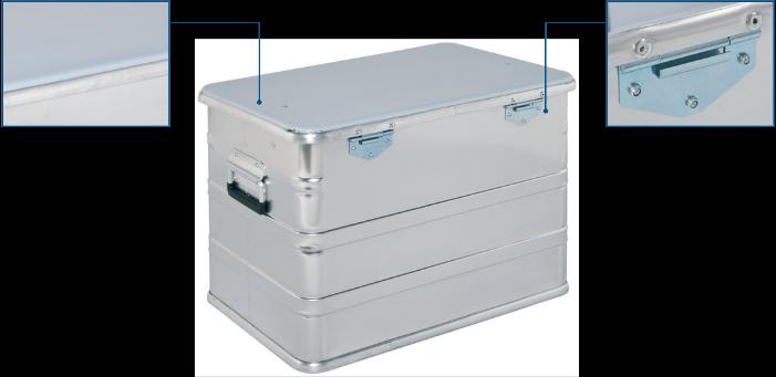 Alubox - CL 440 Transport box rear view