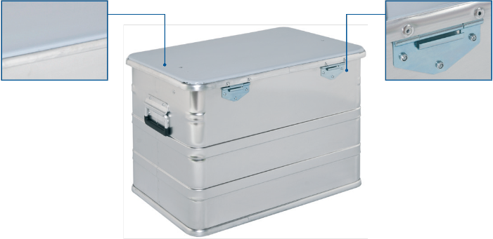 Alu Box - CL 440 Transport Box Rückansicht