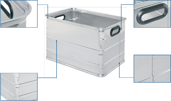 Aluminium case - UL 345 Alu Container top view
